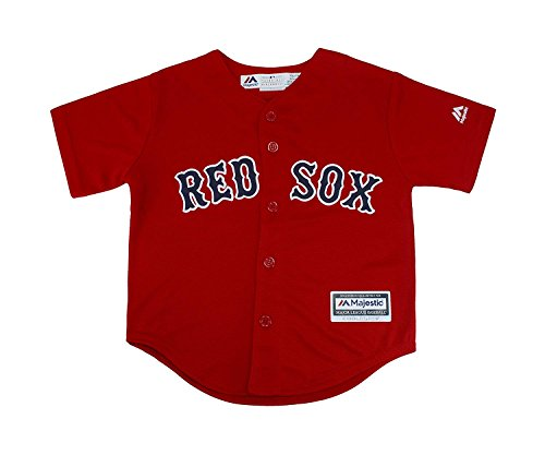 Majestic Kid's MLB Boston Red Sox Baseball Red Jersey (Small 4) by Majestic