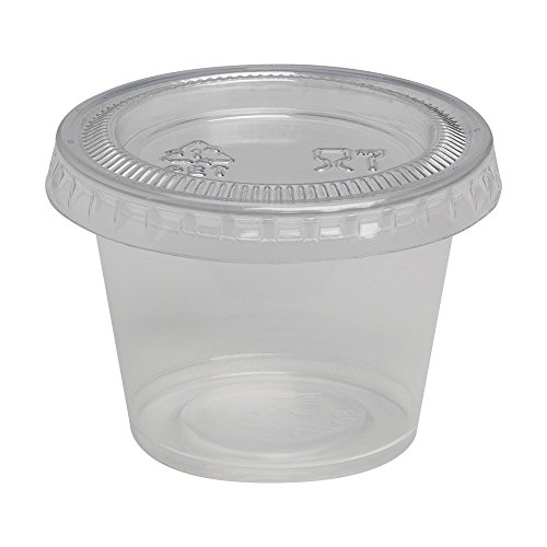 Amazon.com: Dixie PP10CLEAR Portion Cup Soufflé Cup, Plastic, 1 oz., Clear (Pack of 4800): Industrial & Scientific