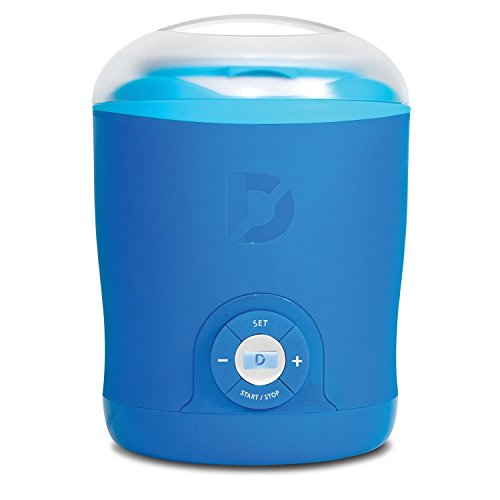 Dash Yogurt Maker - Blue + Over 150 Easy Healthy Smoothie Recipes (Dash Green Yogurt Maker compare prices)