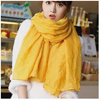AdronQ Baumwolle Leinen Schal für Frauen grau/weiß/einfarbig warme Herbst Damen Lange Schals weiblichen Schal Lady Schals