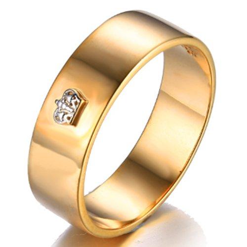 JewelryPalace CZ plata de ley 925 18K oro amarillo anillo de boda aniversario Tamaño 11
