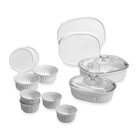 French White 14-Piece Bakeware Set by CorningWare