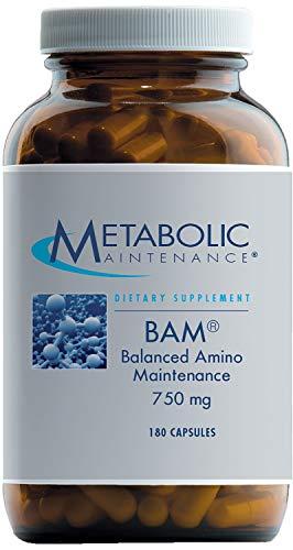 Metabolic Maintenance - BAM - Balanced Amino Maintenance for Energy + Brain Support, 180 Capsules