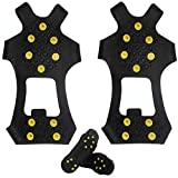Pair of Anti Slip Winter Snow Ice Grips Ice Spikers Grippers Crampon Cleats Spikers Ice Traction Slip on Boots Shoes Fit for Hiking Fishing Climbing Shoes Cover