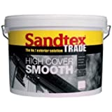 Sandtex Trade High Cover Smooth, 10L (Magnolia) by Sandtex
