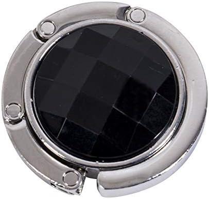 WWLDPTTCD Bolso de Mesa Plegable portátil Plegable Bolso Gancho Percha Soporte Bolso Cristal Decoración de Diamantes de imitación