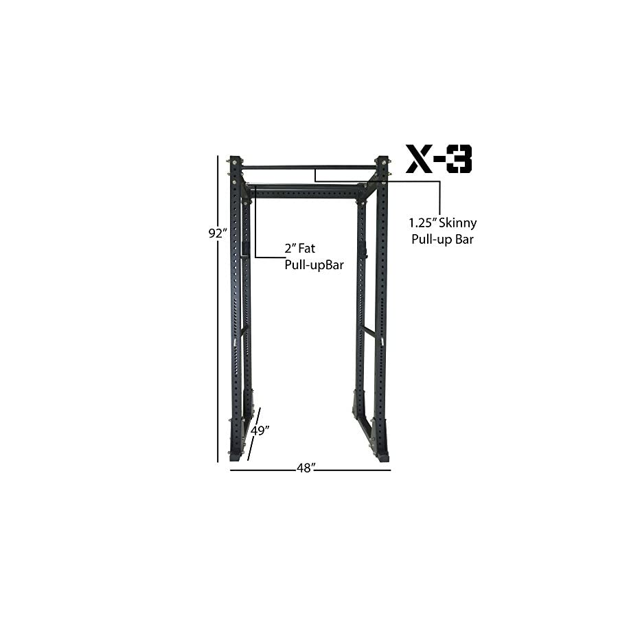 Titan Fitness X 3 Flat Foot Power Rack Cage Squat Stand