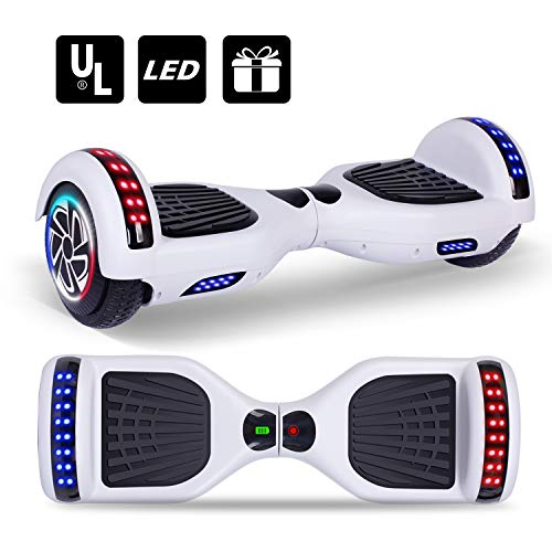 Keepower Hoverboard UL2272 Certified Two 6.5' Wheels Self-Balancing Electric Scooter Dual 300W Motors Smart Hover Board Adults Kids Gift - Classic Series/LED Banner Marquee/Bluetooth Speaker