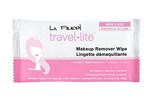 La Fresh Travel Lite Makeup Remover Cleansing Face Wipes – Facial Towelettes with Vitamin E for Waterproof Makeup – Individually Sealed Wrappers (Large 8 in x 7 in Cloth Size) - 1200 Count