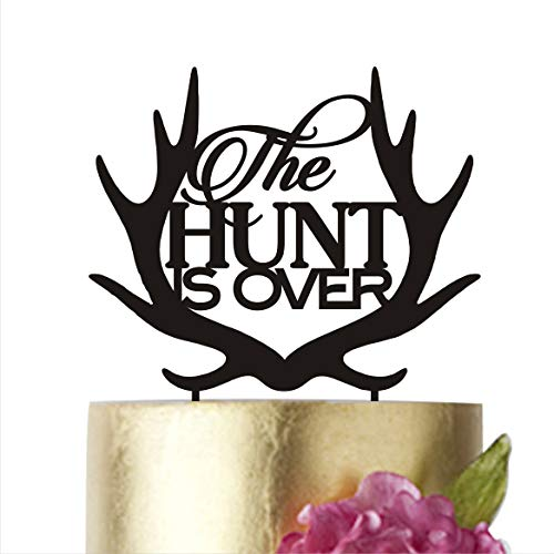HappyPlywood The Hunt is Over, Cake Topper, Cake Toppers, Cake Topper Wedding, Cake Topper Birthday for $<!--$9.99-->