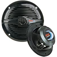 Boss Audio MR50B 5.25 Round Marine Boat Speakers Pair Black