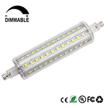 Dayker R7S J118 LED Bulbs, 10W(100 Halogen Bulb Replacement) Dimmable J-Type T3 Floodlight, Double Ended Daylight(6000K) Light
