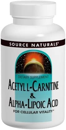 Source Naturals Acetyl L-Carnitine Alpha-Lipoic Acid 650mg – 120 Tablets