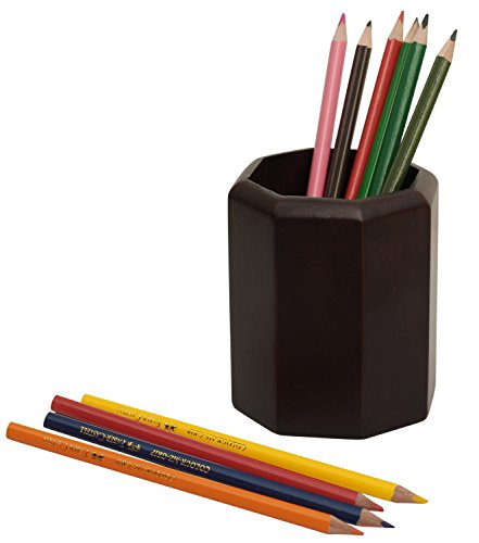 Top SALE on Pen Stand - Premium Quality 4.1 inch Multipurpose Pen Pencil Cup Stand Holder Brown Pencil Holder - Table Accessories / Gifts / Home Decor free shipping