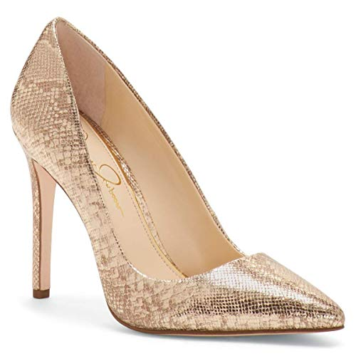 (Jessica Simpson Women's Praylee Pump (8 M US, Karat Gold Golden Snake))