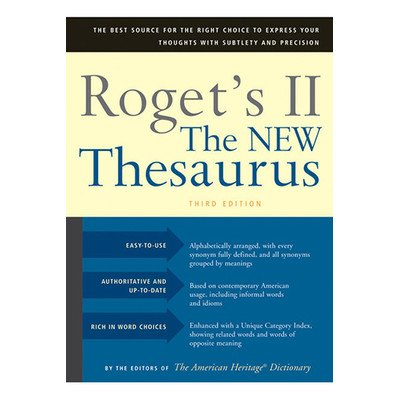 Rogets Ii The New Thesaurus Third