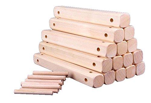 Wine Rack, Pine Wood Wine Rack, Wine Accessories Rack (Natural, Installable 6 Bottles)
