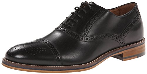 picture of Johnston & Murphy Men's Conard Cap Toe Oxford,Black,11.5 M US