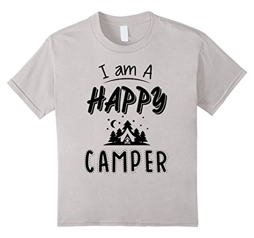 Price comparison product image unisex-child I Am A Happy Camper  Funny Camping Tent T-shirt 8 Silver