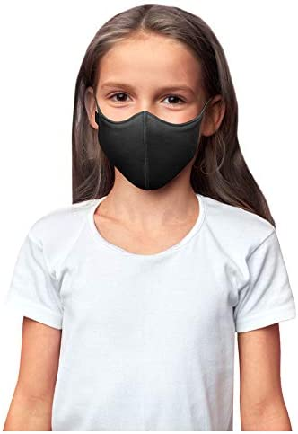 Bloch unisex kid Soft Stretch Reusable (Pack of three), Black, Kids Face Mask, Black, Kids US