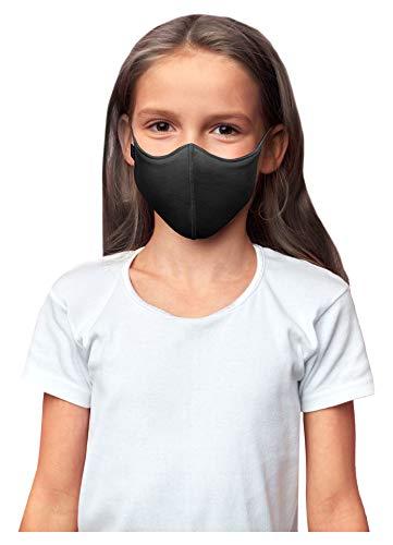 Bloch unisex child Soft Stretch Reusable (Pack of 3), Black, Kids Face Mask, Black, Kids US