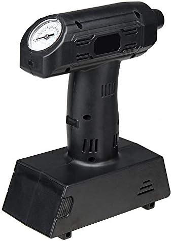 NEHARO Luftpumpe Kompressor 7 in 1 beweglicher 12V Eletric LED Auto-Reifen-Inflator Pumpe Wiederaufladbare Luftkompressor (Farbe : Schwarz, Größe : Einheitsgröße)