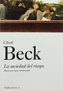 La sociedad del riesgo par Beck