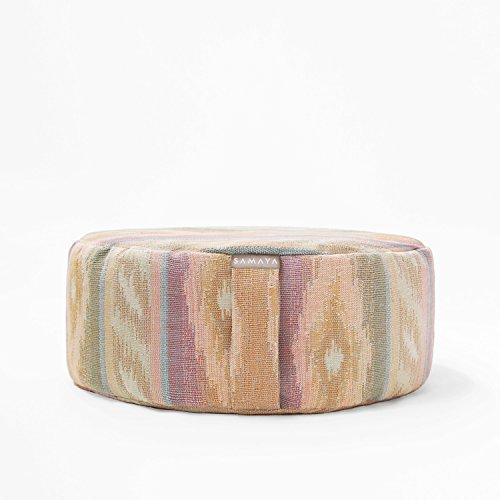 SAMAYA Meditation Cushion ・ Organic Special Blend Filling Buckwheat Millet Lavender ・ Designer Styles ・ Made in USA