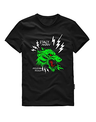 9cfb11befb10 ITALY MORN Men s Crew Neck Short Sleeve Graphic T-Shirts M B-Dragon