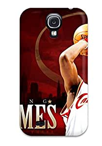 New Style 8017209K64665199 Series Skin Case Cover For Galaxy S4(lebron James Wallpapers Cleveland Cavaliers)