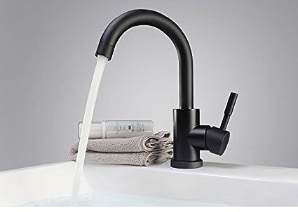 Hlluya rubinetti cucina bagno bacino della pittura nera calda e