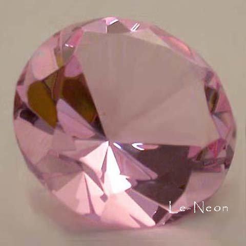 Bendon Publishing Pink glass crystal diamond shaped paper...