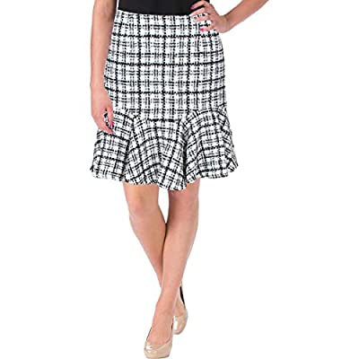 Ivanka Trump Women's Tweed Metallic Fit Flare Skirt