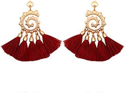 GDJGTA Earrings Womens Vintage Bohemian Metal Sun Flower Tassel Earrings Pendant Ladies Jewelry / GDJGTA Earrings Womens Vintage Bohemian Metal Sun Flower Tassel Earrings Pendant Ladies Jewelry