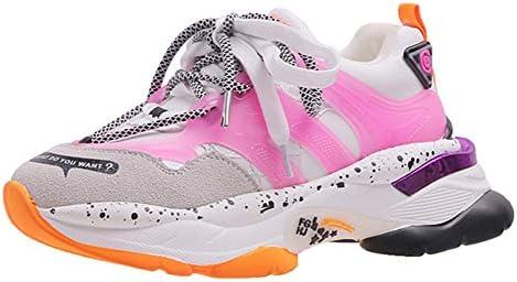 ASTAOT Plataforma De Moda Zapatillas De Deporte Gruesas Mujeres Zapatillas De Deporte Cruzadas para Mujer Zapatos De Deporte para Correr De Altura Creciente-Black,37: Amazon.es: Deportes y aire libre