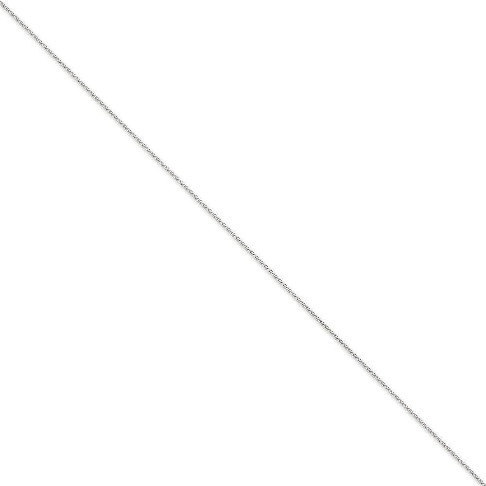14k WG 1.2mm Parisian Wheat Chain Length 7 Width 1.2
