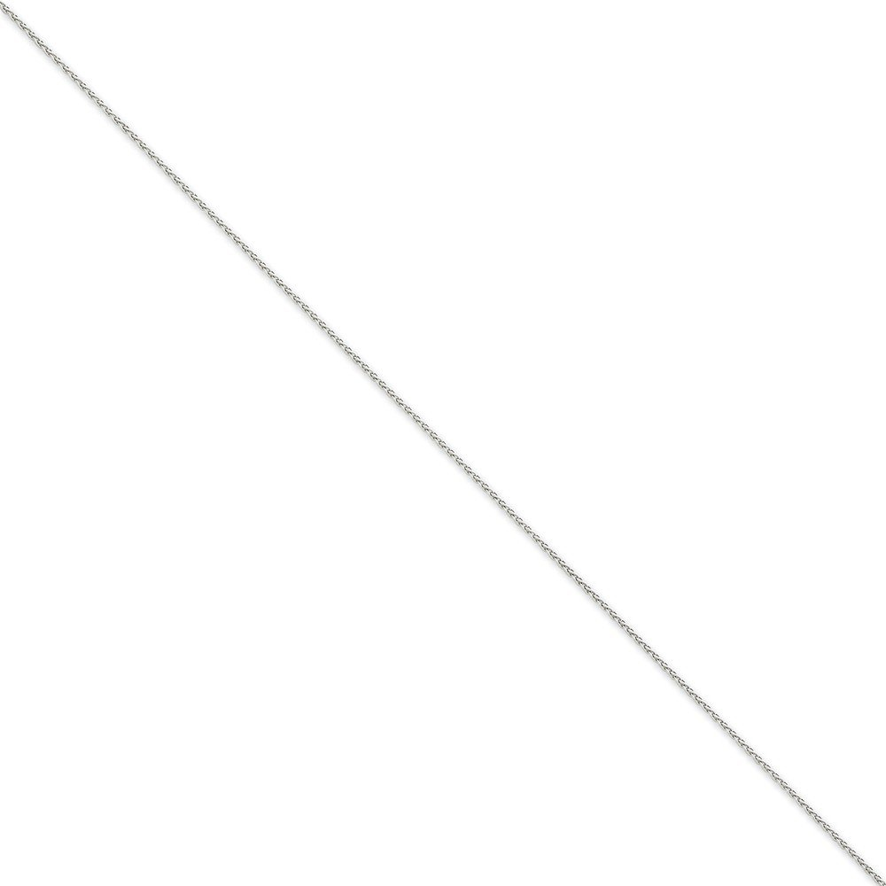 Jewels By Lux 14K White Gold 1.2mm Parisian Wheat Chain