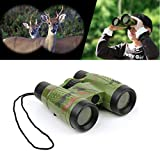 Livoty Magnification Toy Binocular Telescope Neck Tie Strap Lens Educational Toys for Child (Multicolor)