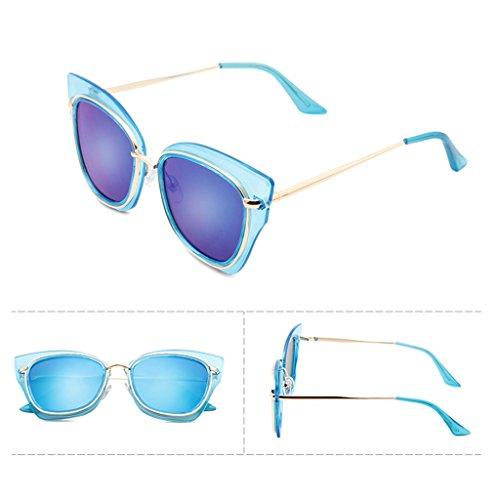 redondas sol la las de Color gafas moda 5 de la de 6 X486 de Gafas sol mujeres gafas sol coreanas de ULTRAVIOLETA de QQB protección de gafas las wcHaTZqInY
