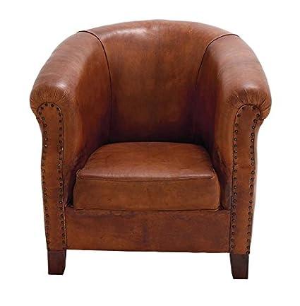 amazon com deco 79 80876 real leather captains chair 32 x 33