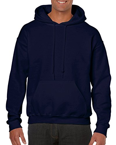 Gildan Men's Heavy Blend Fleece Hooded Sweatshirt G18500, Navy, X-Large ()