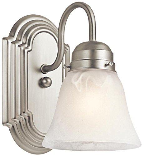 Kichler 5334NI Wall Sconce 1-Light, Brushed Nickel