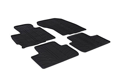 Black Gledring GL 0327 Rubber Car Mat Set