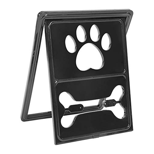 Pet Dog Door Security Gate Window Screen Magnetic Closure Puppy Cat Animal Pet Supplies(Black)
