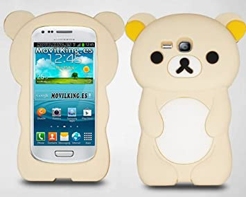 Funda de silicona diseño oso 3D para Samsung Galaxy S3 mini ...