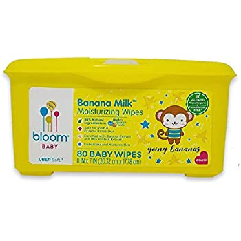 """Banana Milk Moisturizing Baby Wipes by bloom BABY 