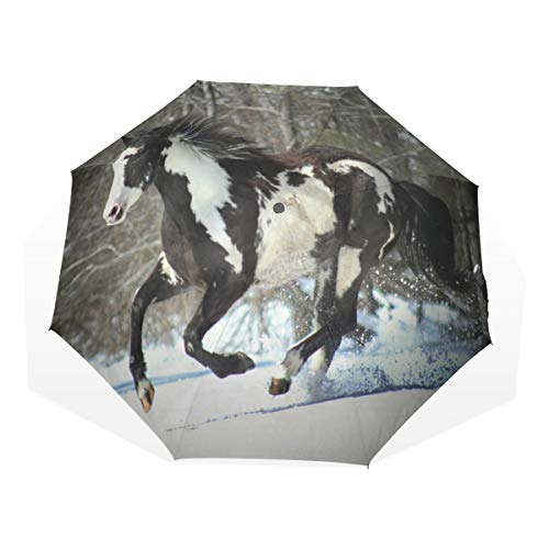 Used, Umbrella Horse Winter Snow Tree Auto Open Close 3 Folds for sale  Delivered anywhere in Canada