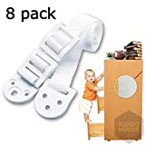 Furniture Anchors For Baby Proofing - 8 Pack - Anti Tip Furniture Kit - Protect Children From Falling - Adjustable Straps - For Dressers, Tv, Bookshelves And Other Furniture
