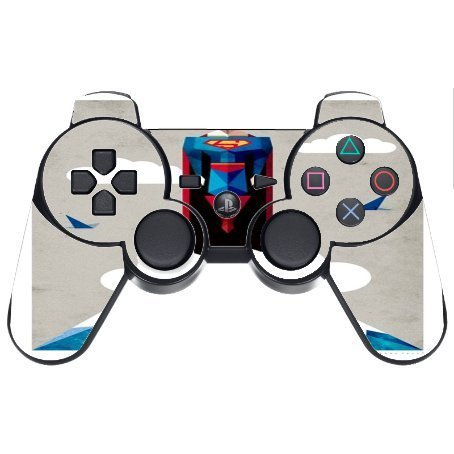> > > Decal STICKER < < < Superman Picture Design Print Image PS3 Dual Shock wireless controller Vinyl Decal Sticker Skin by Trendy Accessories by Trendy Accessories