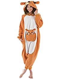 Kangaroo Animal Onesie - Soft and Comfortable With Pockets! Fun As a Costume or Pajamas - For Men Women Teens Adults! 5% Of Sales Donated To San Diego Zoo Global Wildlife conservancy